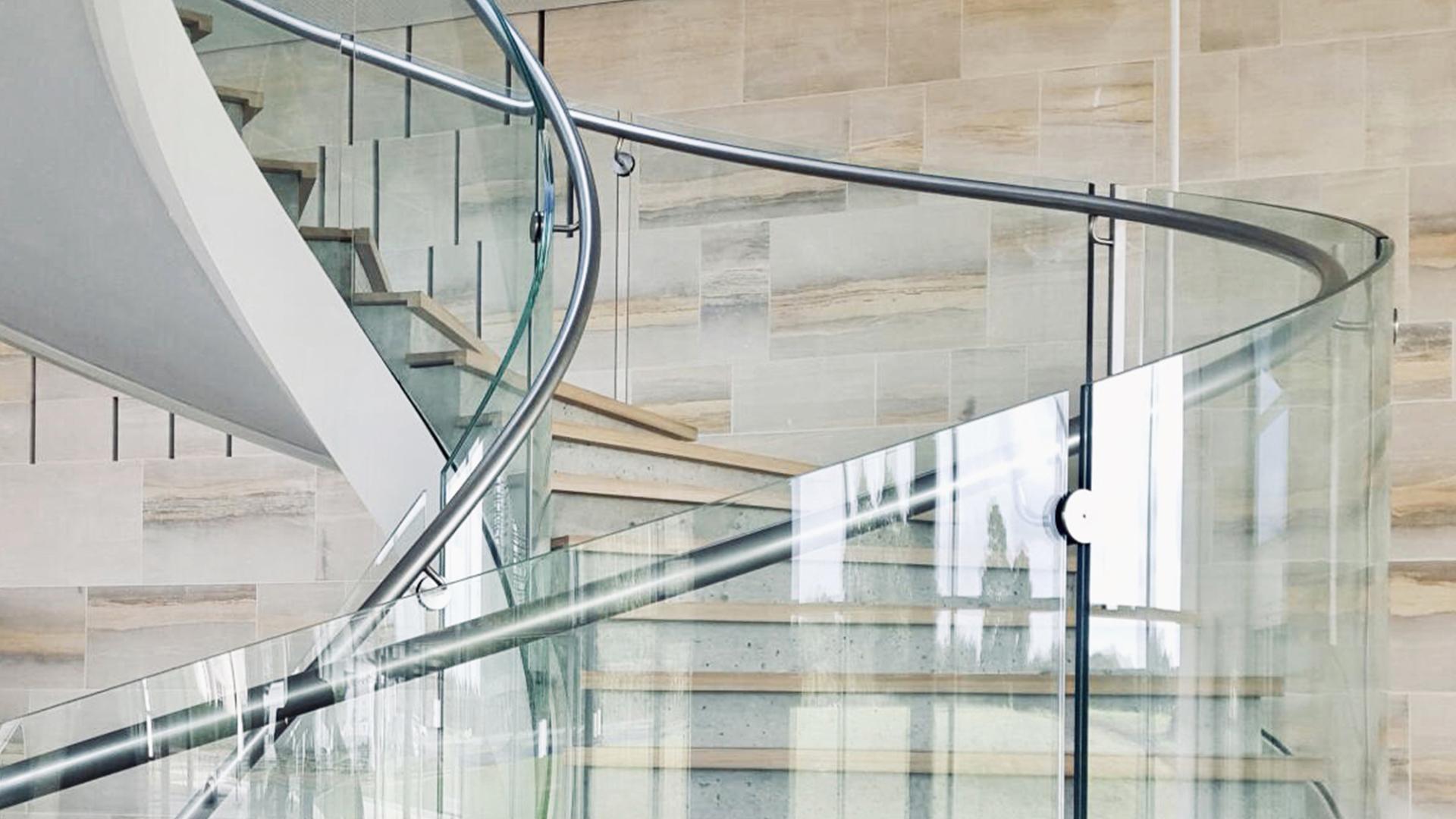 garde corps verre inox escalier