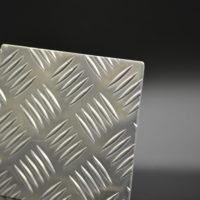 Echantillon aluminium tole à damiers