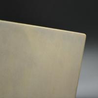 Echantillon acier bruni patine