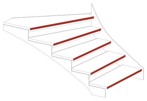 schema nez marches escalier