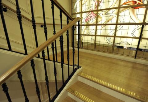 Palier entre deux volées d'escalier