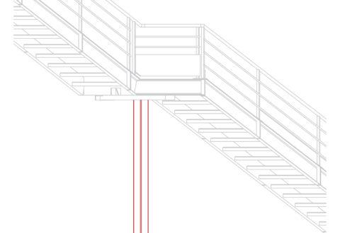 poteau escalier