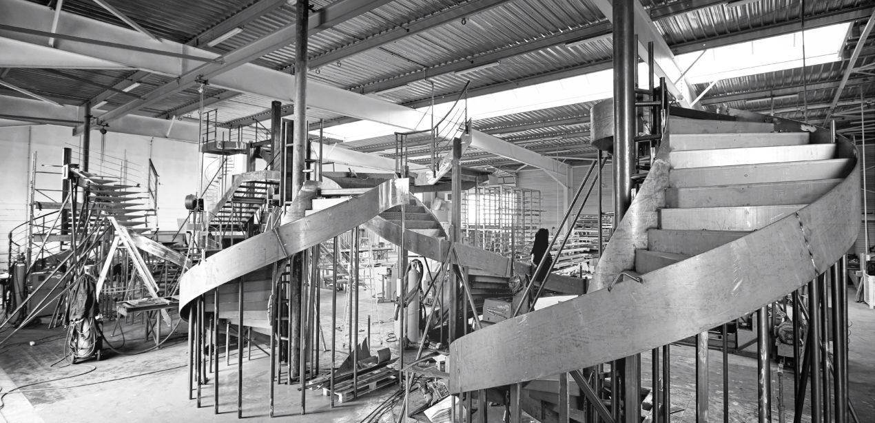 Escaliers acier en fabrication Atelier escaliers REM