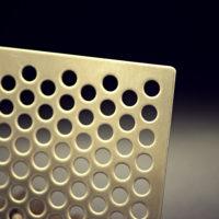 echantillon laiton tole perforce ronde