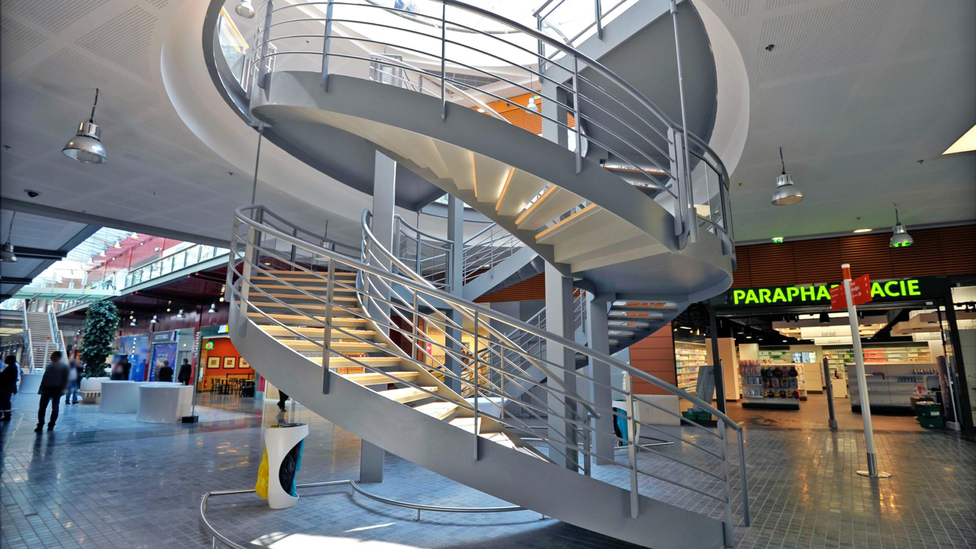 escalier double révolution bmétallique vinci le millénaire