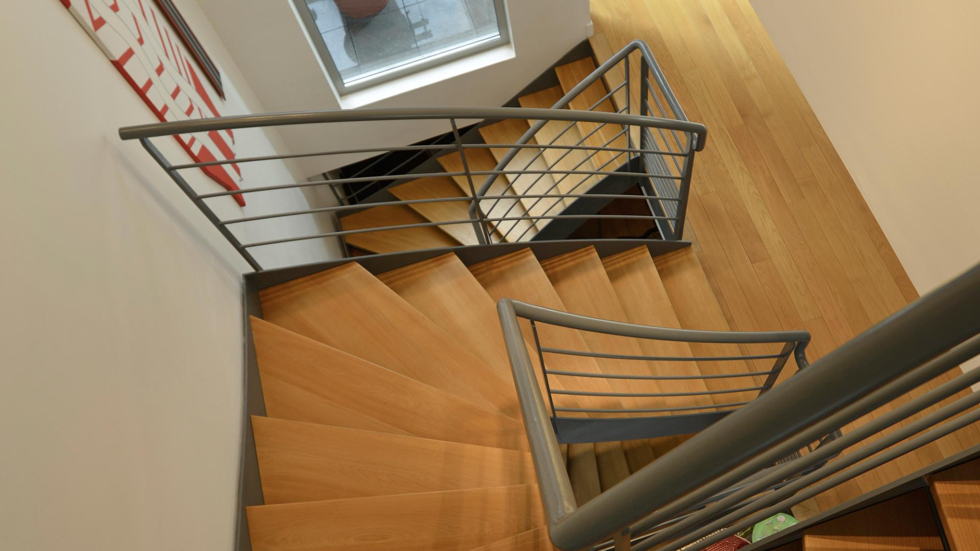 escalier double quart tournant sur mesure