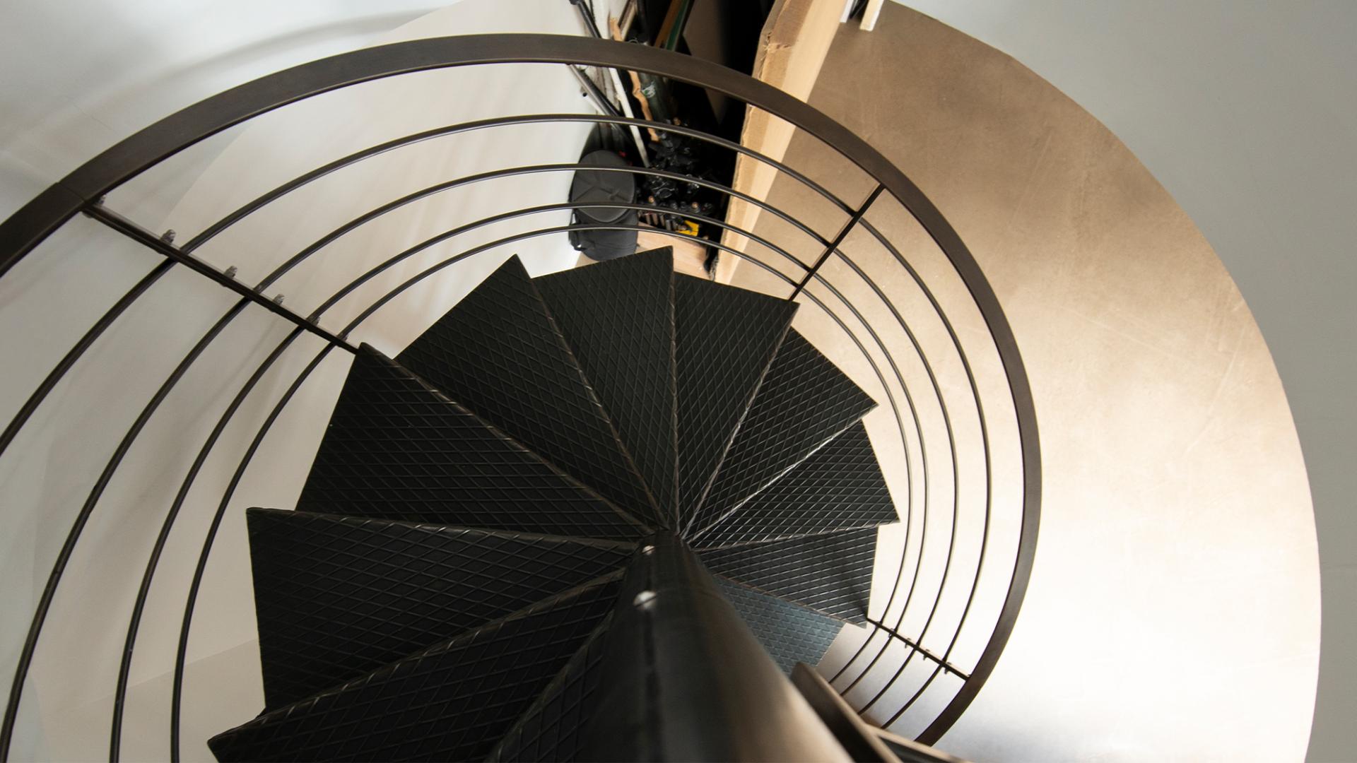 escalier helidoical en acier