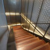 escalier laiton escalier droit acier chene