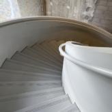 vue escalier main courante acier
