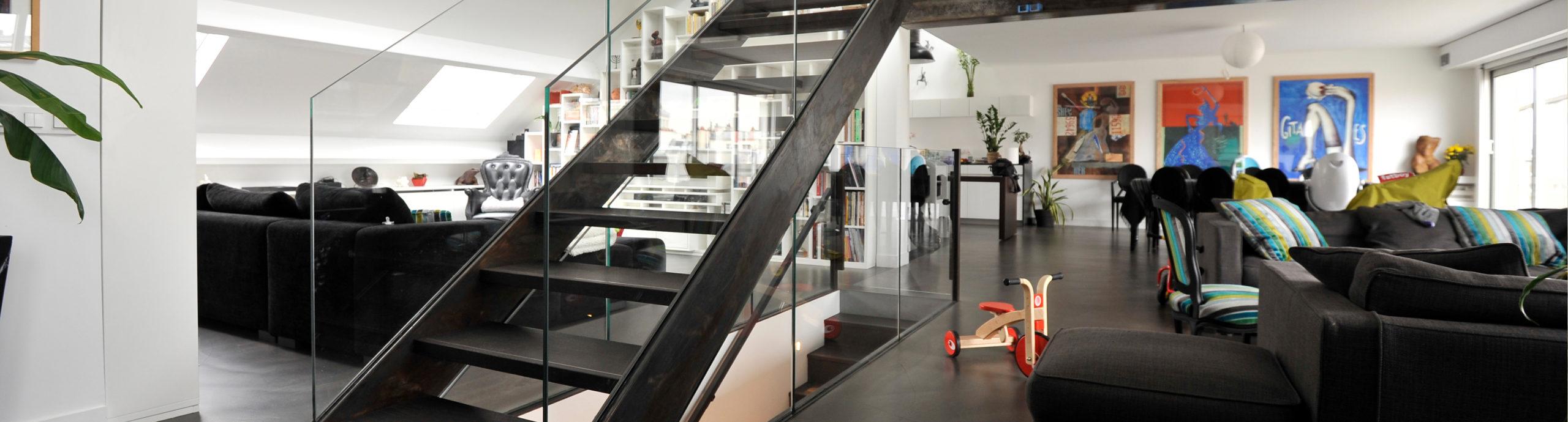 escalier sur mesure métallique design