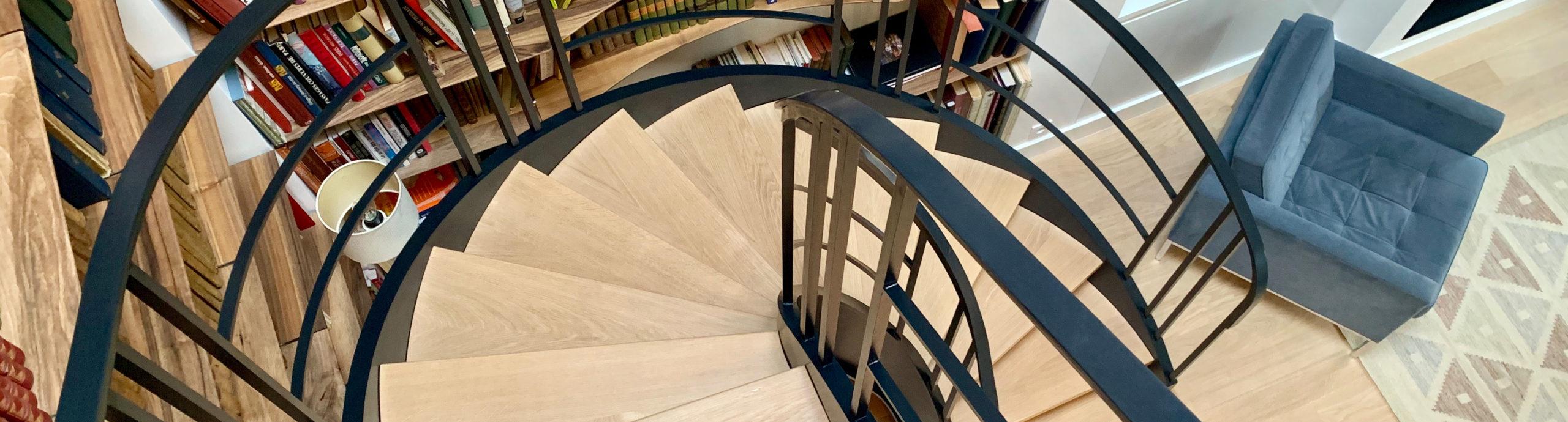 escalier metal et bois sur mesure