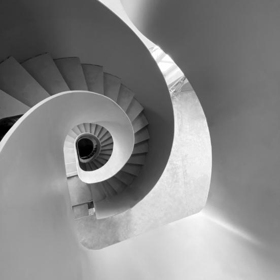 escalier ruban plusieurs niveaux